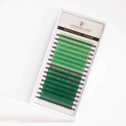 Light green/green lashes mayfair mink 0.07